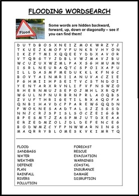 Flooding Wordsearch